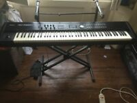 Roland 700GX and Super Natural expansion board, pedal, single layer stand