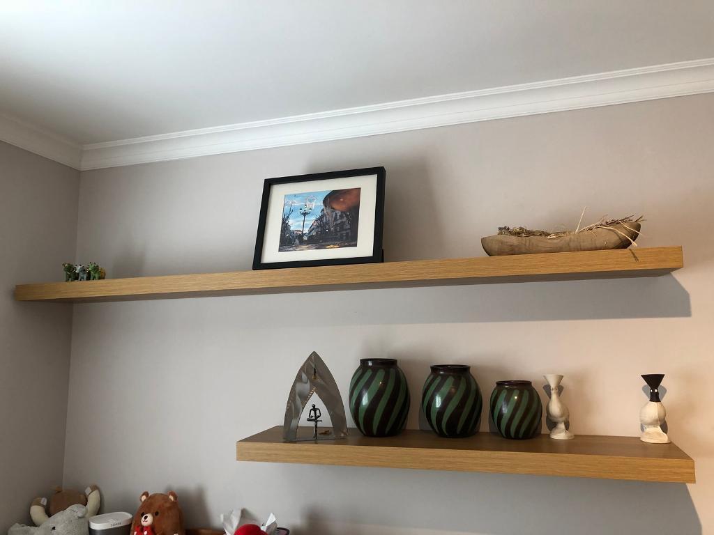 2 Ikea Lack Floating Shelves In