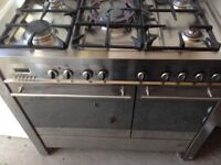 Stainless steel Range Dual gas cooker 90cm..Mint free delivery