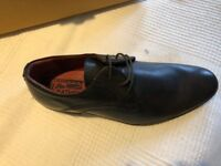Brand new Leather Derby Next shoes, size 8, dark brown.