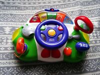baby steering wheel toy excellent condition
