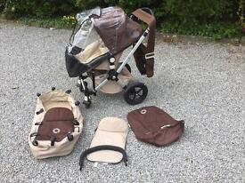 Bugaboo Cameleon Pram Buggy with change bag and accessories