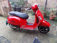 Piaggio VESPA GTS300, 2011,RED,1 OWNER,1700MILES, HPI CLEAR,NEW MOT, ANY INSPECTION,