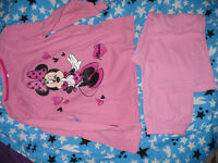 Bundle of 2 Disney Minnie Mouse pyjamas for Girl 7-8 years. In good condition. 100% cotton.