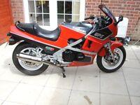 Kawasaki GPZ600R. 30 year old classic bike.