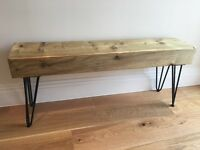 Reclaimed sleeper hardwood Bench