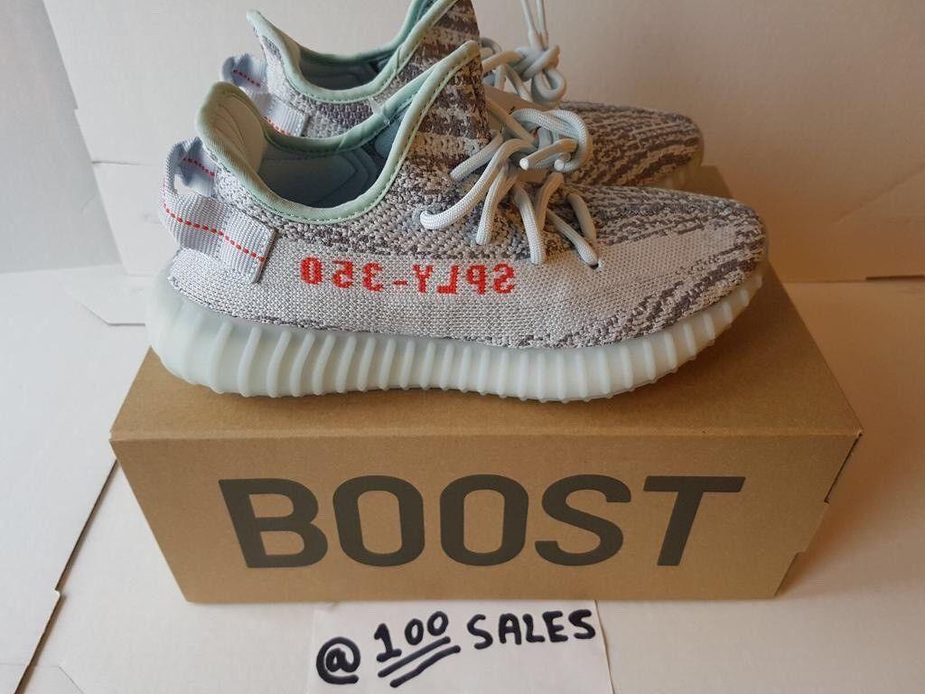 5fd205f2c3b8f ADIDAS x Kanye West Yeezy Boost 350 V2 BLUE TINT Grey Blue UK5   EU38  B37571 ADIDAS RECEIPT 100sales