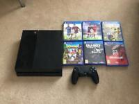 PlayStation 4 - 500GB with 6 Games