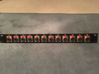 "19"" rack mount 1/4"" jack patch bay"