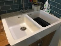 Double Butler Kitchen Sink and tap
