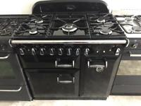 Rangemaster black good condition 90cm 5 burner range gas cooker with oven & grill cheap
