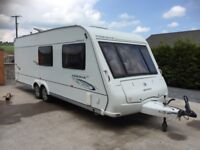 Compass corona 2009 twin axle 6 berth fixed bed side dinette also double or two singles up front