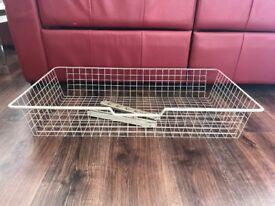 PAX Ikea wardrobe metal basket with rails and screws