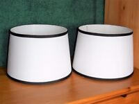 A Pair Two Black and White Lamp Light Shades HALF PRICE! RRP £20 Unused Bargain