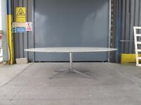 Genuine Florence Knoll Large Oval Marble Table