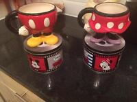 Disney Minnie & Mickey Mouse Mugs