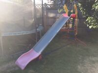 Colourful kids slide for the garden. Still in decent condition and great fun for the under 10s.