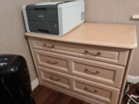Bedroom chest of drawer set in beautiful beige