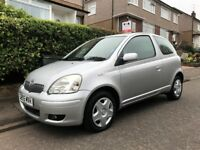 TOYOTA YARIS COLOUR COLLECTION 1.0 LITRE 3 DOOR +++1 YEAR MOT, LOW MILEAGE & FULL SERVICE HISTORY+++