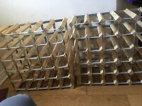 2 x 60 bottle wine racks