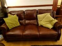 Great condition leather 3 seater sofa