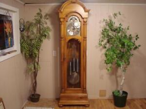 Modern Rustic Pine Grandfather Clock