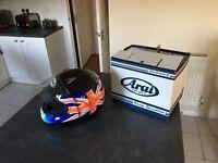 Arai Signet Union Jack full faced helmet as new.