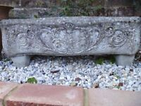 Vintage Reconstituted Stone Bow Fronted Sheep Trough Planters