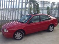 TOYOTA COROLLA 1.3 GS 5 DOORS HATCH BACK MANUAL RED
