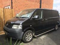 Black VW 2.5 Transporter Van