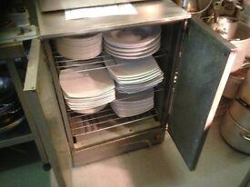 Stainless steel plate warming cupboard 3 shelf 2 doors