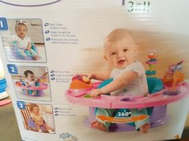 baby activity seat 3in1 and table , bumbo seat