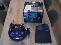Playstation PS3 Logitech Driving Force GT Steering Wheel and Pedals Kit