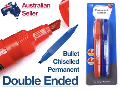 5mm Double Ended Permanent Marker Large Thick Waterproof Bullet Chiselled Tip Large Bullet Tip