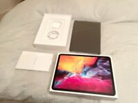 """ONLY USED FEW HOURS,1YEAR APPLE WARRANTY IPAD PRO 2020 11"""" 128 GB WIFI AND CELLULAR UNLOCKED SILVER"""