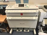 Nashuatec Aficio/Ricoh MP W2400 Wide Format Printer/Plotter and Scanner A0