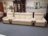 Excellent condition 3 seater sofa with 2 matching chairs