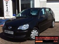 2007 57 VOLKSWAGEN POLO 1.2 60PS E*BLACK*5 DOOR*POLO*VERY LOW MILES*FSH