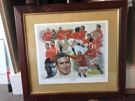 Man Utd memorabilia picture £135