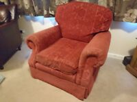 Lovely and comfortable red armchair - free on collection