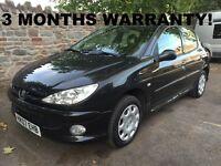 Peugeot 206 1.4 Look 5dr | 3 MONTHS WARRANTY | NEW MOT!