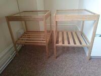 2 BEDSIDE TABLES FOR £10