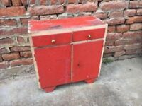 Vintage Small Shabby Wooden Cupboard Child's Furniture Kitchen Decor