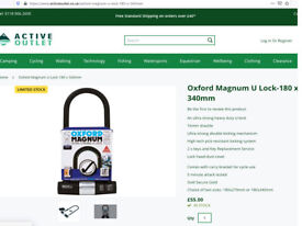 Bike lock Oxford magnum ultra strong ULock with original packaging new £35 in E1