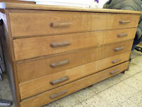 Oak 5 Drawer Plan Chest SOLD SOLD