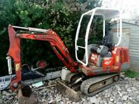 DIRECT FROM LOCAL SELF BUILD PROJECT MINI DIGGER 1.5 TONNE WITH TRAILER