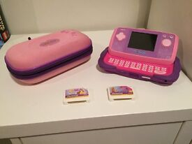 Pink VTech Mobigo with case and 2 games