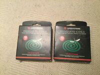 Life systems mosquito coils - 2 boxes of 10 with stands.