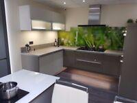 Splashback, glass panels, kitchens, bathrooms