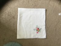 Beautiful embroidered tablecloth